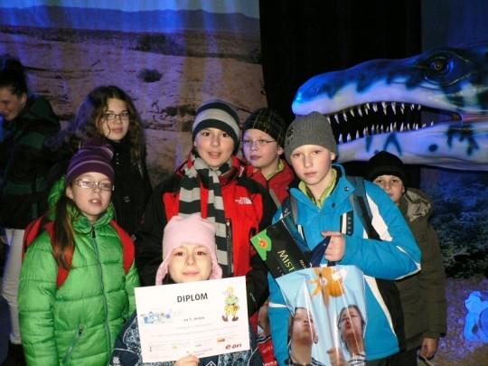 27. - 28.2.2013 - Dinopark Tour 2013 - vyhlášení vítězů 3. stupně soutěže Malá energetické akademie 2012 -2013