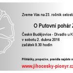 2.4.2016 - uzlařská soutěž O Putovní pohár Zlaté Růže