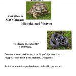 13.9.2017 - M-centrum pro mladou rodinu z.s. - Zvířátka ze ZOO Ohrada