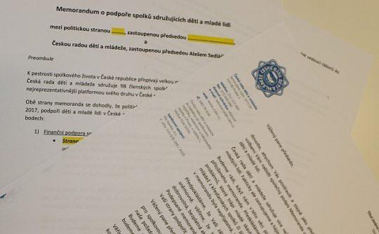 ČRDM žádá osm politických stran o povolební podporu spolkové činnosti ve prospěch dětí a mladých lidí