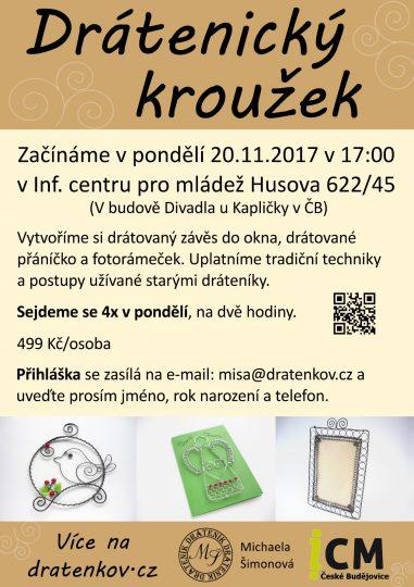 Drátenický kroužek v ICM Č.B. začínáme 20.11.2017