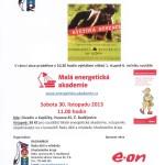 30.11.2013- Pohádková rezervace – vyhlášení vítězů 1. stupně Malé energetické akademie 2013 – 2014