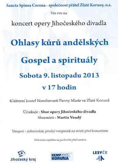 Plakát na Gospely