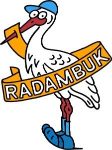 Logo čáp barvy webu RADAMBUK
