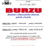 18.-19.9.205 - M- centrum pro mladou rodinu - Burza dětského oblečení a hraček