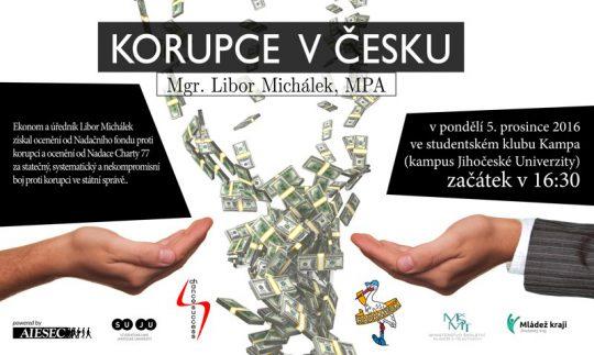 Přednáška projektu Mládež kraji - Korupce v Česku