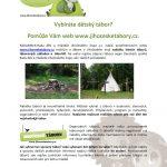 Vybíráte dětský tábor? Pomůže Vám web www.jihocesketabory.cz