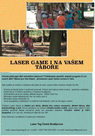 Laser game na Vašem táboře - Laser game club Písek z.s.