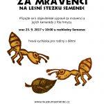 Semenec o.p.s. – pozvání na vycházku 23.9.2017 Za mravenci a do VENKOKLUBU