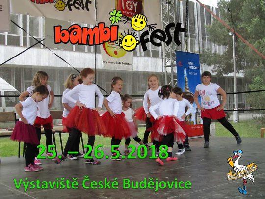 PROGRAM PÓDIOVÝCH VYSTOUPENÍ BAMBIFEST 25.-26.5.2018 Výstaviště Č.Budějovice