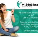 7. ročník projektu Mládež kraji - kraj Jihočeský - registrace nápadů do 10.3.2021!!!