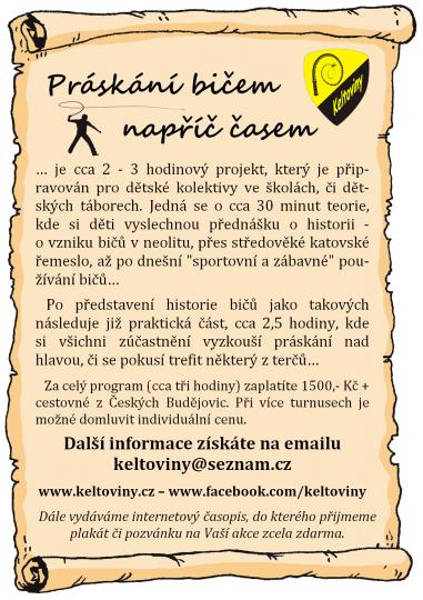 Keltoviny z.s. - práskání bičem na táborech