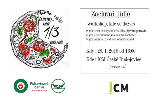 ICM Č.B. - 28.1.2019 - Workshop Zachraň jídlo