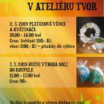 2.-3.3.2019 – Tvořivé víkendy ateliér TVOR z.s.