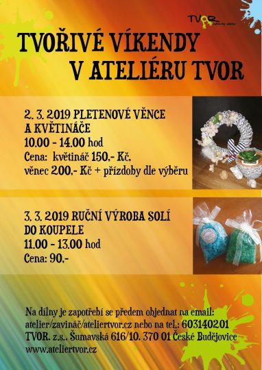 2.-3.3.2019 - Tvořivé víkendy ateliér TVOR z.s.