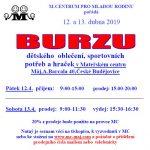 12.-13.4.2019 - Burza dětského oblečení, sport. potřeb a hraček - M-centrum pro mladou rodinu z.s.