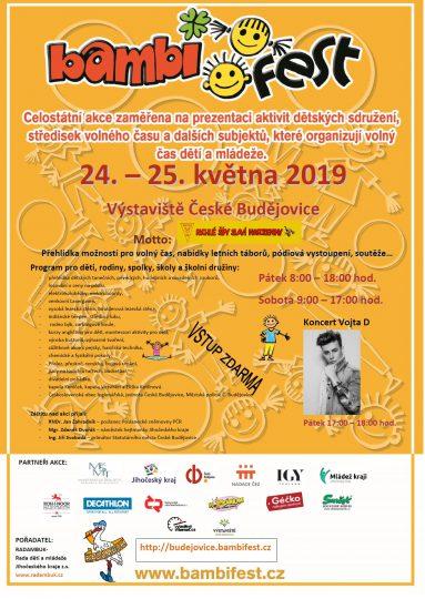 Plakát BAMBIFEST 24.-25.5.2019 České Budějovice