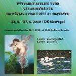 TVOR z.s. - výstava prací dětí a dospělých 23.5.-27.6.2019