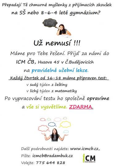 DOUČKO – Přípravné kurzy na přijímací zkoušky na SŠ nebo 8-6-4 letá gymnázia- zdarma!!!