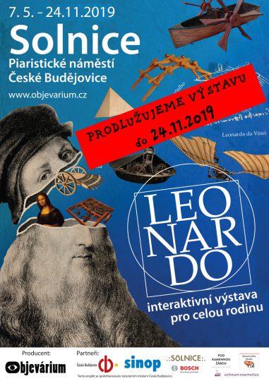 Výstava Leonardo prodloužena do 24.11.2019