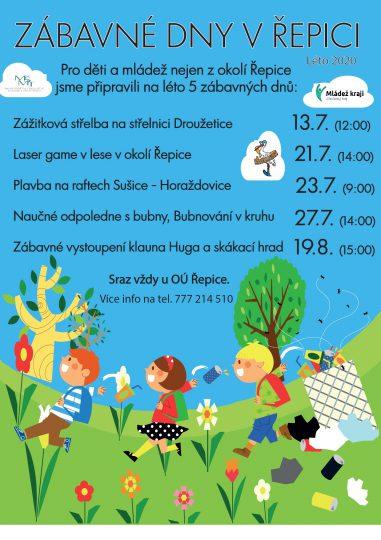 13. 7. - 19. 8. 2020 - projekt Mládež kraji - Zábavné dny v Řepici
