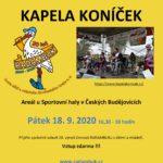 18.9.2020 - koncert kapely Koníček k 20. narozeninám RADAMBUKu