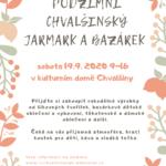 19.9.2020 - Podzimní jarmark a bazárek Chvalšiny