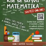 Soutěž s námi online - Kde se skrývá matematika -  27.11.-4.12.2020 - projekt Mládež kraji - kraj Jihočeský