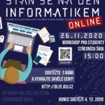 Staň se na den informatikem - projekt Mládež kraji - kraj Jihočeský - soutěž on-line do 4.12.2020