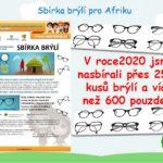Sbírka brýlí v roce 2021 pozastavena
