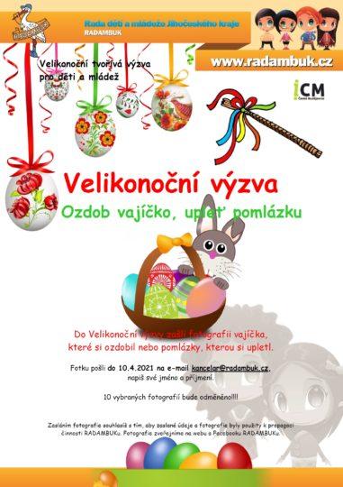 Velikonoční výzva RADAMBUKu - ozdob vajíčko, upleť pomlázku
