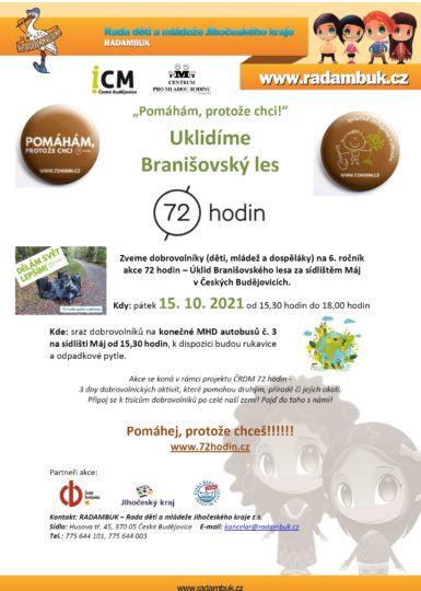 15.10.2021 - Uklidíme Branišovský les  - 72 hodin